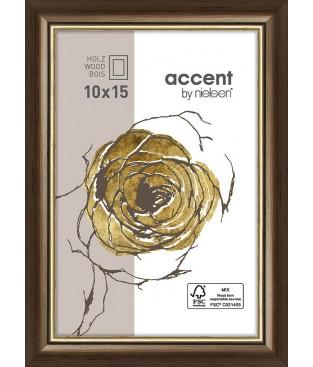 Ascott 10x15 brun foncé/or