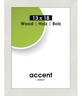 Accent Wood 13x18 blanc
