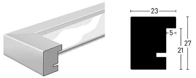 Profil et coupe de la baguette du cadre XL